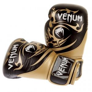 Боксерские перчатки Venum Tribal Boxing Gloves (EU-VENUM-0675) Black/Gold 16 oz